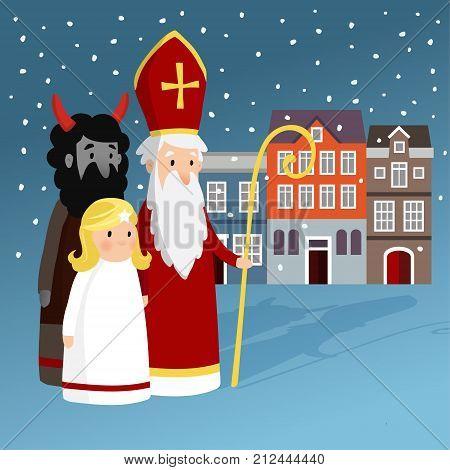 Cute Saint Nicholas Vector Photo Free Trial Bigstock