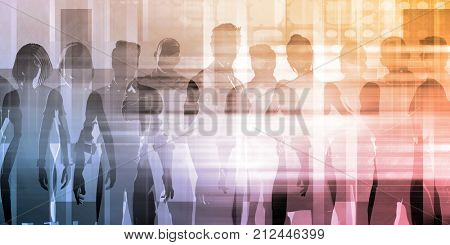 Business People Team Communicating and Working Together
