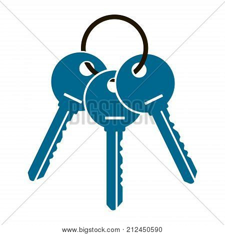 three keys from the apartment illustration isolated