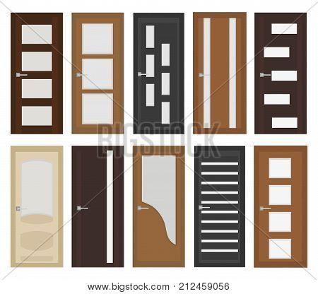 Interior Doors Set Vector Photo Free Trial Bigstock