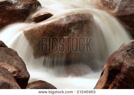 Boulders and Rushing Stream