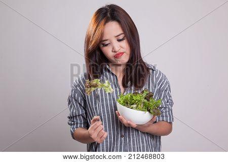Asian Woman Hate Salad.