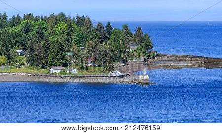 The Lighthouse on Gallows Point Near Nanaimo British Columbia