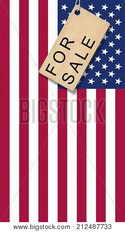 USA flag with bage - for Sale