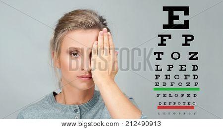 Eye Test. Eyesight Vision Exam Chart