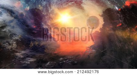 Celestial Art Stars and Galaxies in Outer Space Showing the Beauty of Space exploration. Textures furnished by NASA 3d Render 3d Illustration
