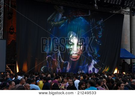 Alice Cooper Perfoming Live In Bucharest