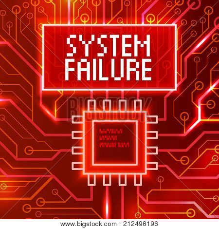 System Failure Abstract Technology Background.