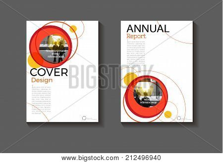 red Circle background modern cover design modern book cover abstract Brochure cover templateannual report magazine and flyer layout Vector a4