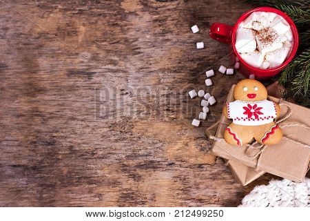 Christmas Cookies. Christmas Cookies With Festive Decoration.