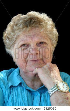 Contented Senior Lady
