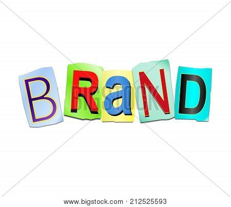 Brand Word Concept.