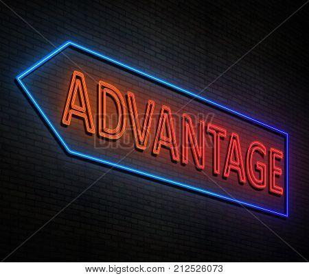 Neon Advantage Concept.
