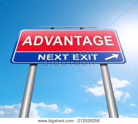 Advantage Sign Concept.