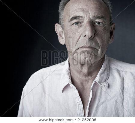 Arrogant looking man (senior)