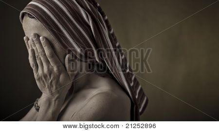 Weeping girl