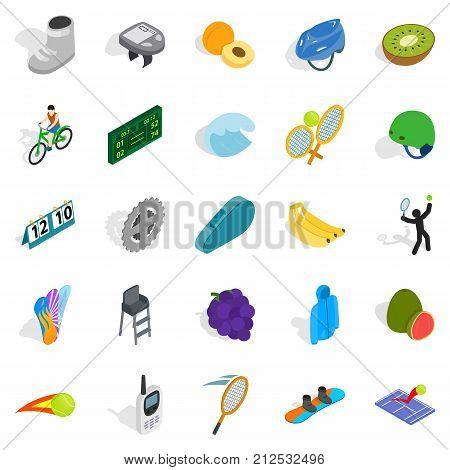 Important championship icons set. Isometric set of 25 important championship vector icons for web isolated on white background