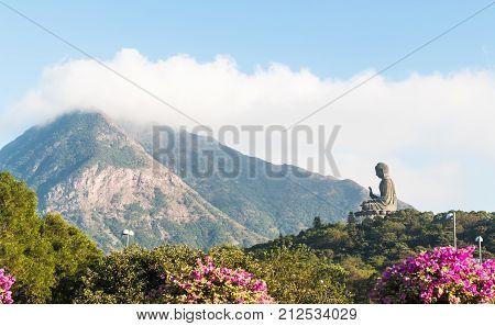 Tian Tan Buddha Big buddha - the world's tallest outdoor seated bronze Buddha located in Nong ping Hong Kong.