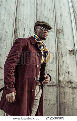 African American Man In Fashionable Clothes