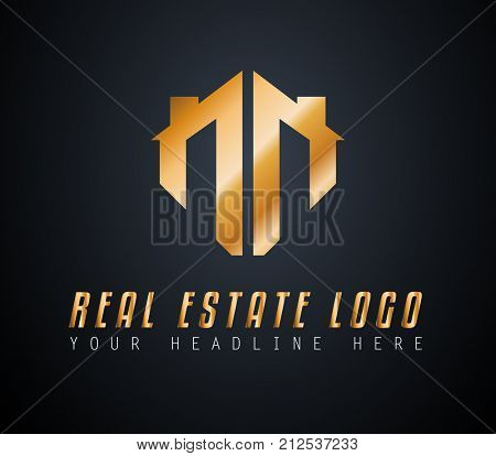 Creative Real Estate Logo design for brand identity, company profile or corporate logos with clean elegant and modern style.