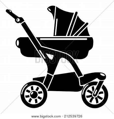Baby carriage designer icon. Simple illustration of baby carriage designer vector icon for web