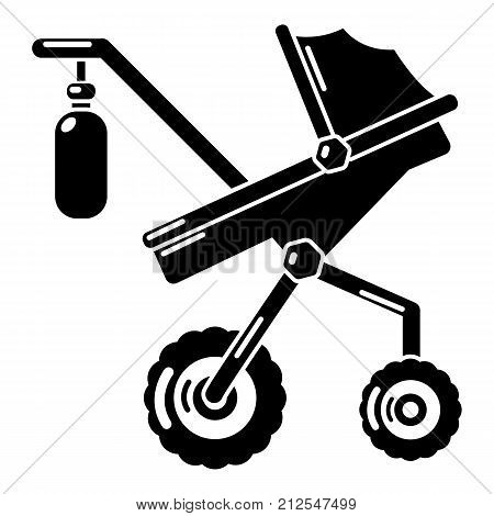 Baby carriage classy icon. Simple illustration of baby carriage classy vector icon for web