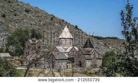 Armenia, a general view of the monastery complex Goshavank built in the eleventh to twelfth centuries.
