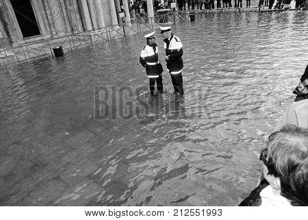 Police Officers Or Policemen Patrolling
