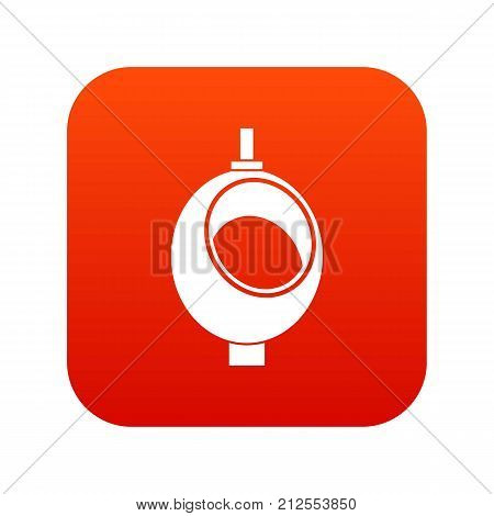 Urinal or chamber pot for men icon digital red for any design isolated on white vector illustration