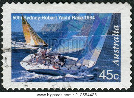 Australia - Circa 1994: Postage Stamp Printed In Australia, Dedicated To The 50Th Anniversary Of The