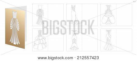 Die cut Wedding Invitations 6,5''Hx4,5