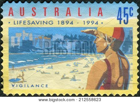 Australia - Circa 1994: Postage Stamp Printed In Australia, Dedicated To The 100Th Anniversary Of Th