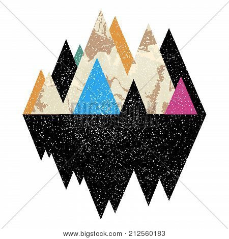 Geomerty design composition.Vector geometric triangle background, abstract mountains.Conceptual marble background.Flat design, with minimal elements.Use for card, poster, brochure,web.