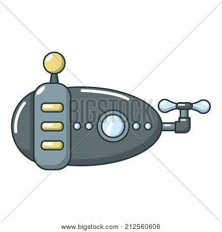 Submarine navy icon. Cartoon illustration of submarine navy vector icon for web