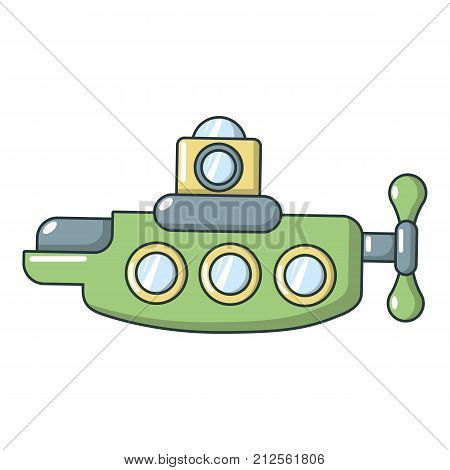 Submarine nautical icon. Cartoon illustration of submarine nautical vector icon for web