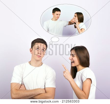 young couple, family life and relationships concept