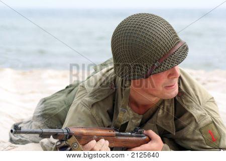Creeping American Soldier
