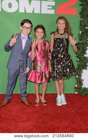 LOS ANGELES - NOV 5:  Owen Vaccaro, Scarlett Estevez, Didi Costine at the
