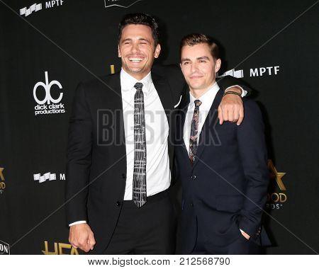 LOS ANGELES - NOV 5:  James Franco, Dave Franco at the 2017 Hollywood Film Awards at Tao on November 5, 2017 in Los Angeles, CA