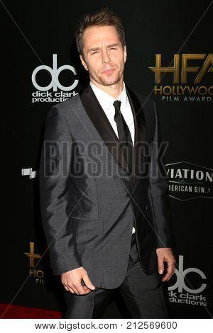 LOS ANGELES - NOV 5:  Sam Rockwell at the 2017 Hollywood Film Awards at Tao on November 5, 2017 in Los Angeles, CA