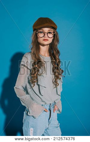 Teenage Girl In Trendy Outfit