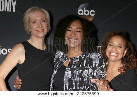 LOS ANGELES - NOV 4:  Betsy Beers, Shonda Rhimes, Debbie Allen at the