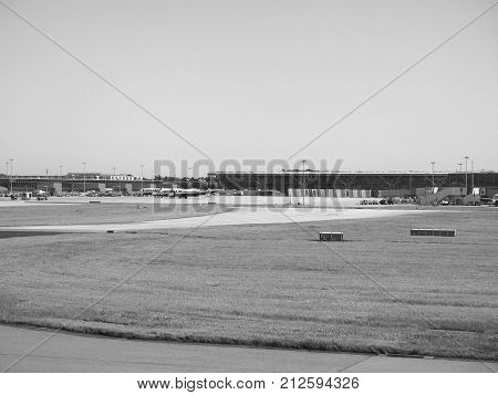 London Stansted Airport Black And White