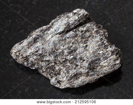 Raw Quartz-biotite Schist Stone On Dark