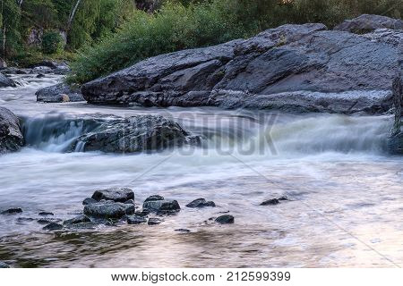 a quick over on the forest river Ural river Iset threshold Howler