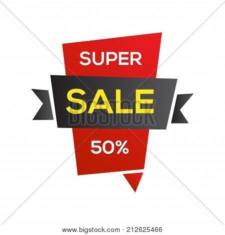 Black friday sale banner design template. End of season discounts vector illustration.
