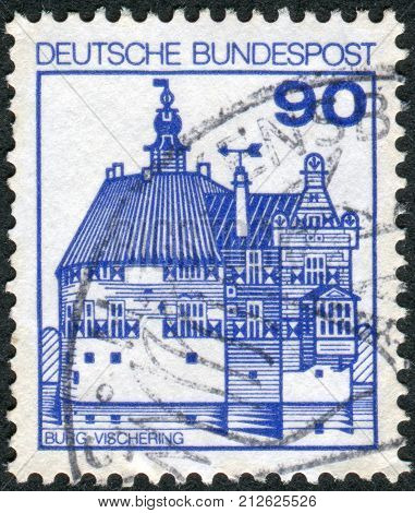 GERMANY - CIRCA 1979: Postage stamp printed in Germany shows Vischering Castle circa 1979
