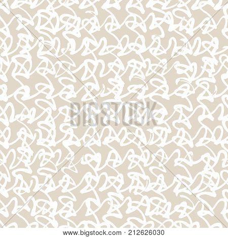 Vector tie dye seamless pattern. Hand drawn shibori print. Ink textured japanese background. Modern batic wallpaper tile. Watercolor ivory endless backdrop.
