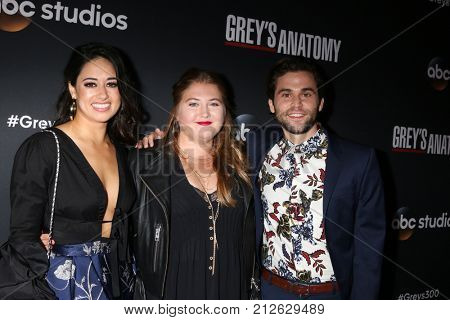 LOS ANGELES - NOV 4:  Jeanine Mason, Jaicy Elliot, Jake Borelli at the
