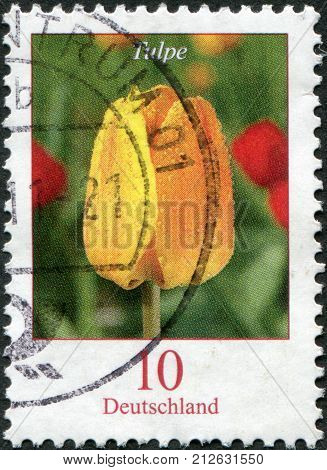 GERMANY - CIRCA 2005: A stamp printed in Germany shows a flower tulip circa 2005